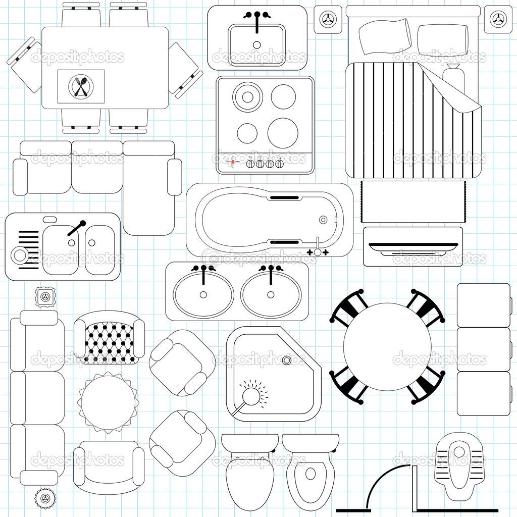 Furniture In Architectural Plans Google Search Interior Architecture Drawing Floor Plan Symbols Interior Design Drawings
