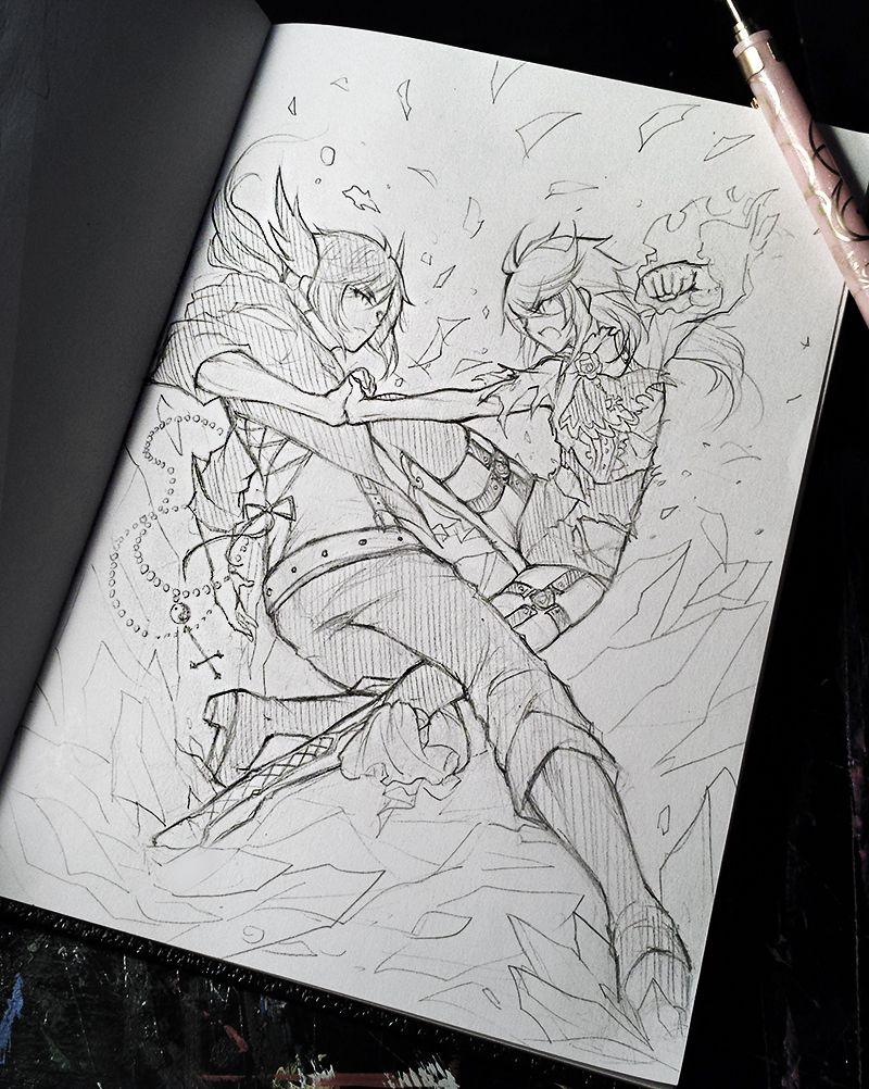 Battle Scene Sketch By Ruriko Sama On Deviantart Anime Prince Art Reference Poses Cool Drawings