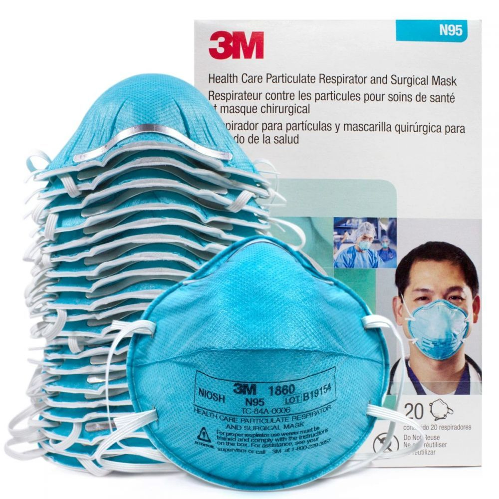 3M 1860 protective mask activated carbon dust mask anti