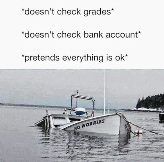 No Worries Sinking Ship Funny Meme Random Board Funny