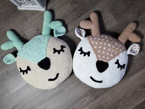 Häkelanleitung Kissen Rentier Reh Bei Makerist Crochet Pinterest