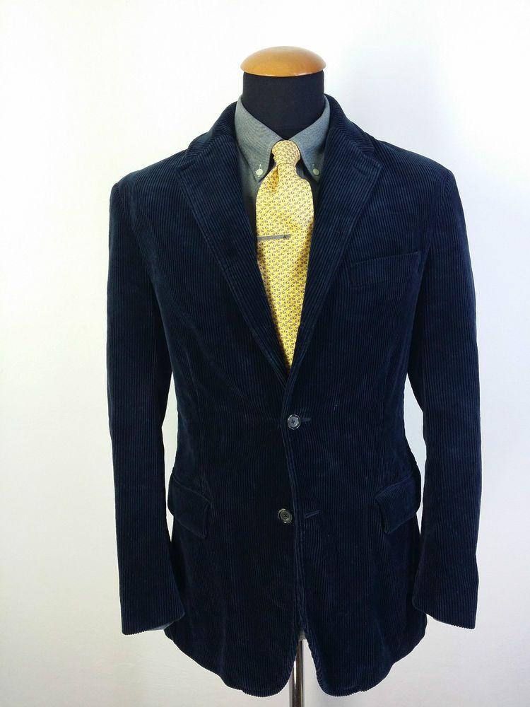 Men's Polo Ralph Lauren Blazer size S 36R Cotton Corduroy