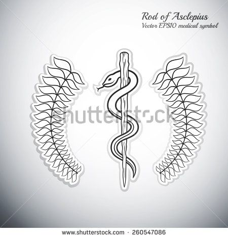 Rod Of Asclepius Doctor Tattoo