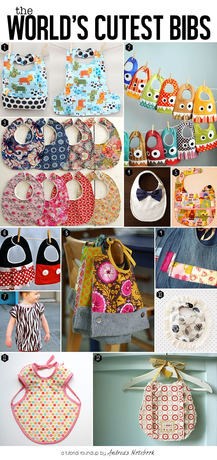 The world\'s cutest bib tutorials! | All Kinds Baby Stuff | Pinterest ...