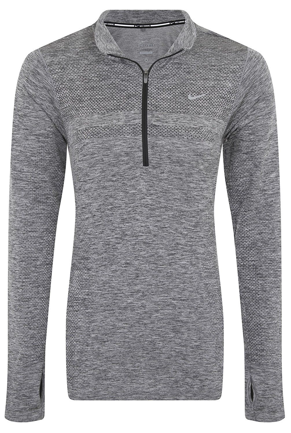 fe507e33 Nike Dri-Fit Knit Half Zip Womens Long Sleeve Running Top at Amazon Women's  Clothing store: