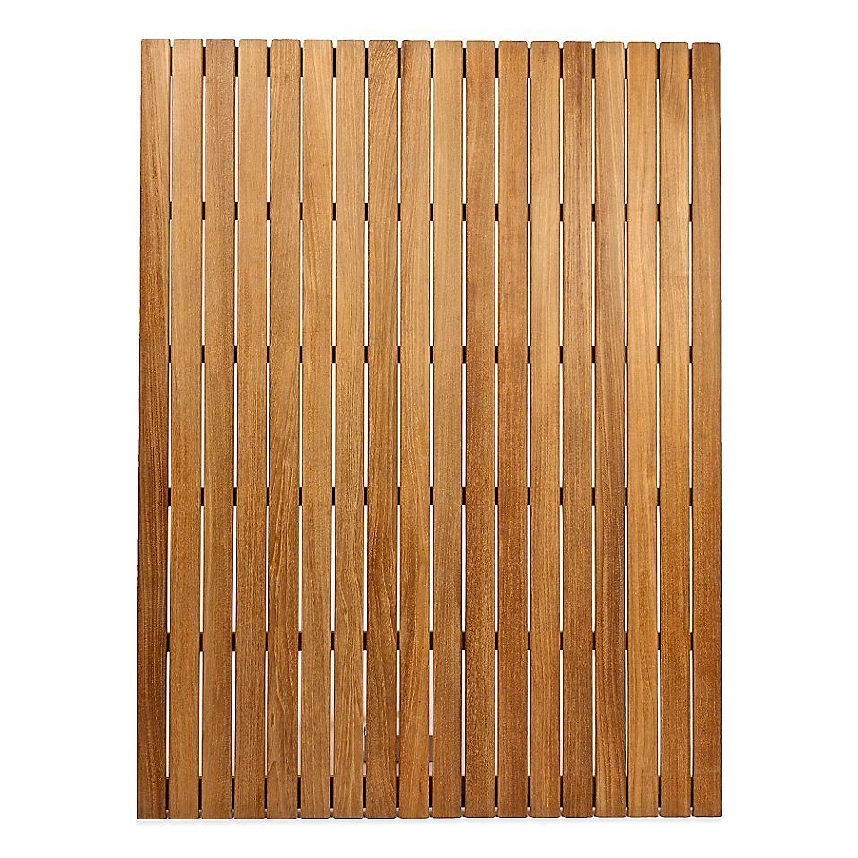 Arb Teak Specialties 48 X 36 Teak Wood Shower Mat Natural