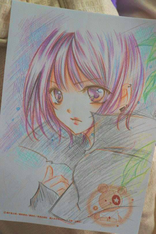 Colored Pencil Work Colored Pencils Anime Art Beautiful Art