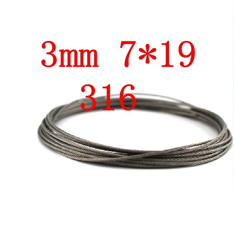 3mm 7*19 Stainless Steel Wire Rope 7 x 19 #Affiliate | Tools | Pinterest
