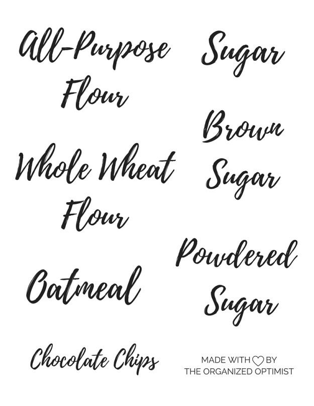 photo about Printable Pantry Labels named Arrange Your Pantry: Printable Labels Labels Kitchen area
