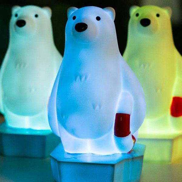 Veilleuse ours polaire pile lr44 veilleuse et dans la - Veilleuse a pile ...