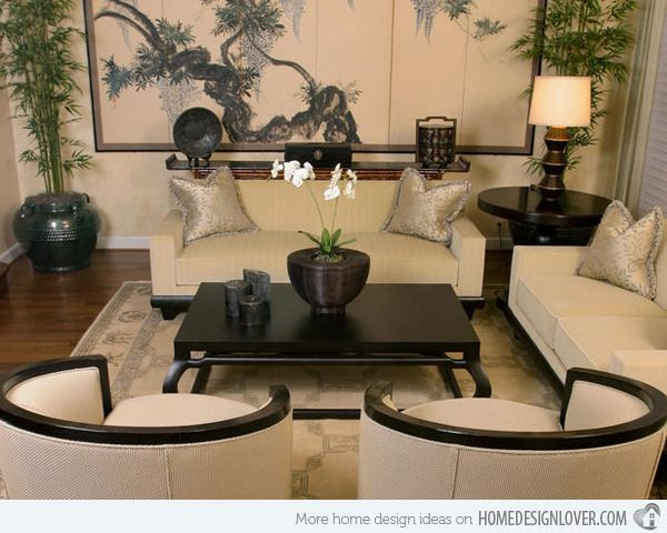 A Collection Of 15 Pictures Of Living Rooms In Different Styles Home Design Lover Asian Decor Living Room Oriental Living Room Asian Living Rooms