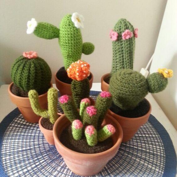 Small Cactus Crochet Pattern, Cacti Crochet Pattern, Ball Cactus ...