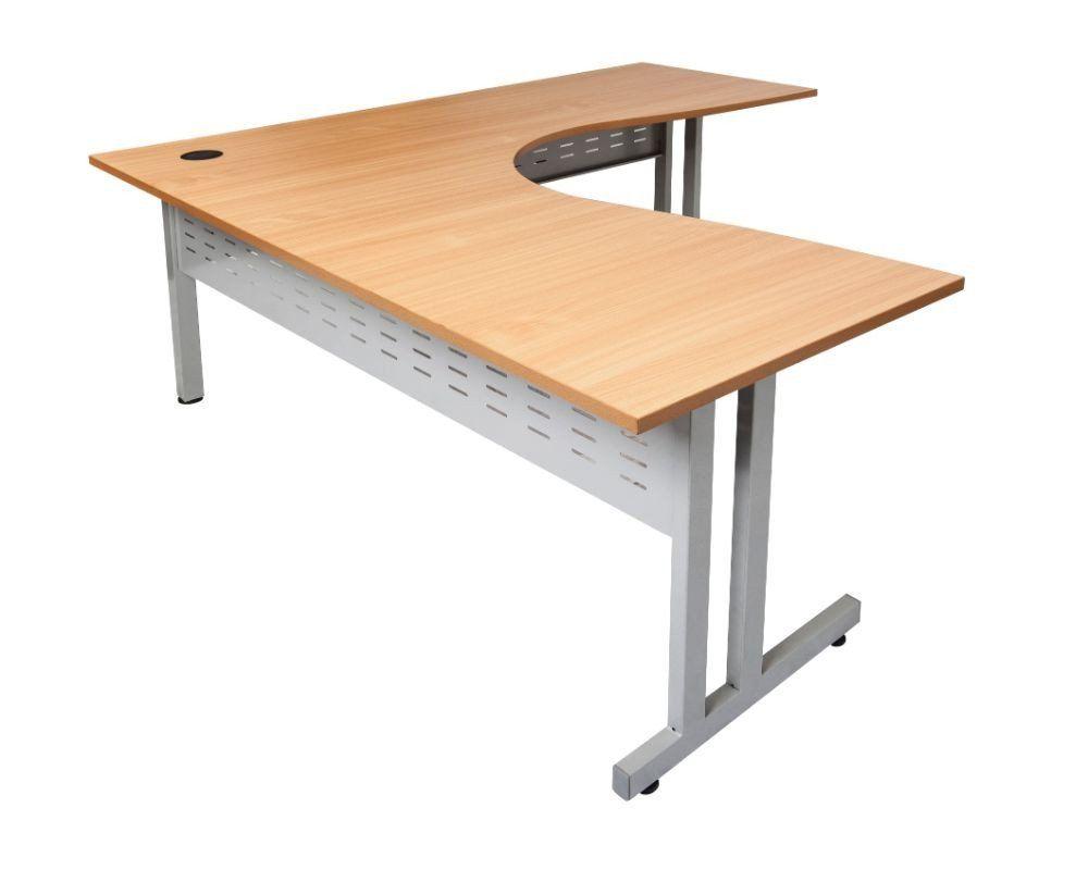 Rapidline Rapid Span C Leg Corner Workstation Beech U2013 Dunn Furniture