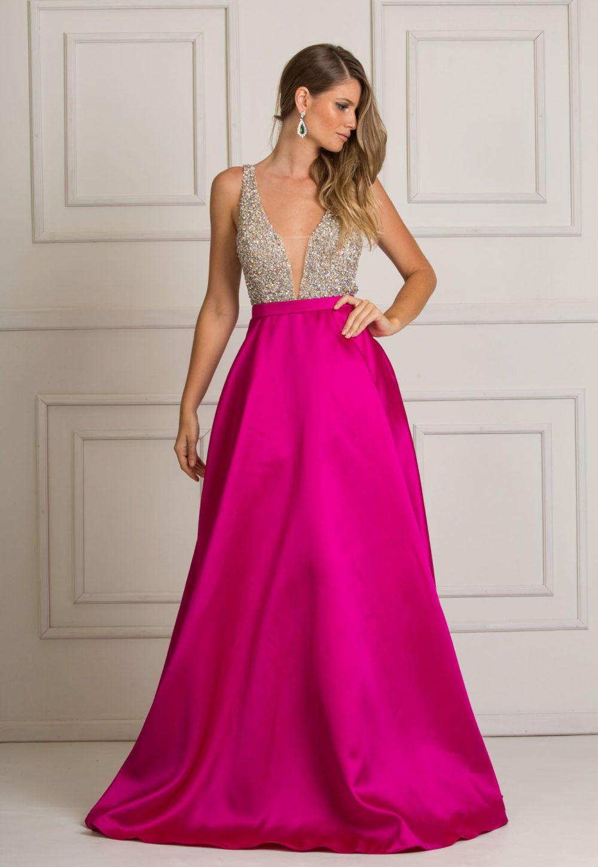 Manhattan é o vestido que toda a menina sonha. Vestido Longo Rosa ...