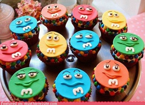 MM cupcake toppers very expressive cupcakes Pinterest