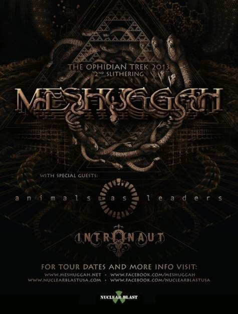 Meshuggah Us Tour 13 With Images Album Art Concert Posters Gig Posters