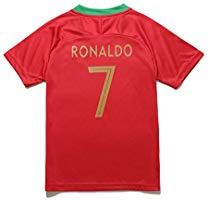 4c3b58e70d1 Amazon.com   KID BOX 2018 Portugal Cristiano Ronaldo  7 Home Red Kids  Soccer Football Jersey Gift Set Youth Sizes (Red (2018)