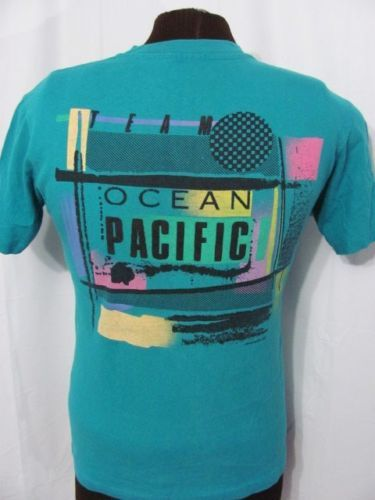 6335b9b4a Perfect OP vintage 80s t-shirt for a very good price. vintage-TEAM -OCEAN-PACIFIC-OP-1987-80s-SURF-SKATE-BEACH-surfing-blue-t-shirt-M
