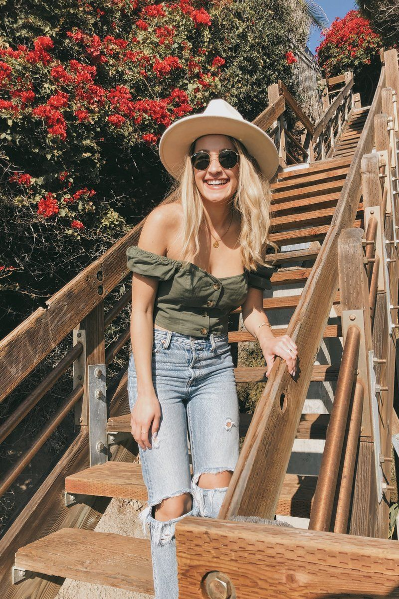 green fitted hat outfit