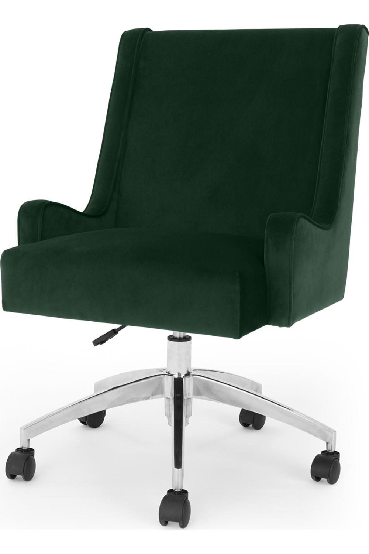 Made Com Chaises De Bureau Vert Velvet Office Chair Green Velvet Green Desk