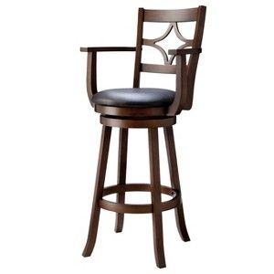 29 Emerson Diamond Back Swivel Bar Stool With Arm Rests