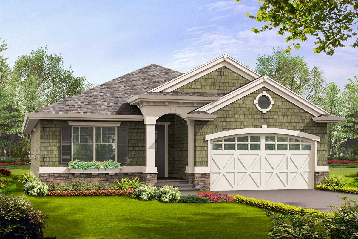 Plan 23260jd Simple Craftsman Ranch With Options In 2021 Craftsman House Plans Small Craftsman House Plans Ranch House Plan