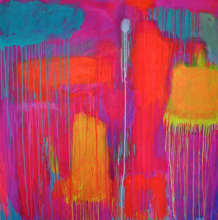 """Saatchi Online Artist: Francesca Spille for 'PUNKTURE'; Acrylic, 2012, Painting """"'Stumblin in the neon Groves'"""""""