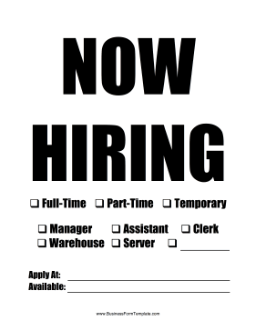photograph about Now Hiring Sign Printable referred to as This printable Currently Using the services of signal can be published and tailored
