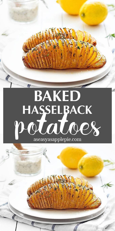 Baked Hasselback Potatoes #russetpotatorecipes