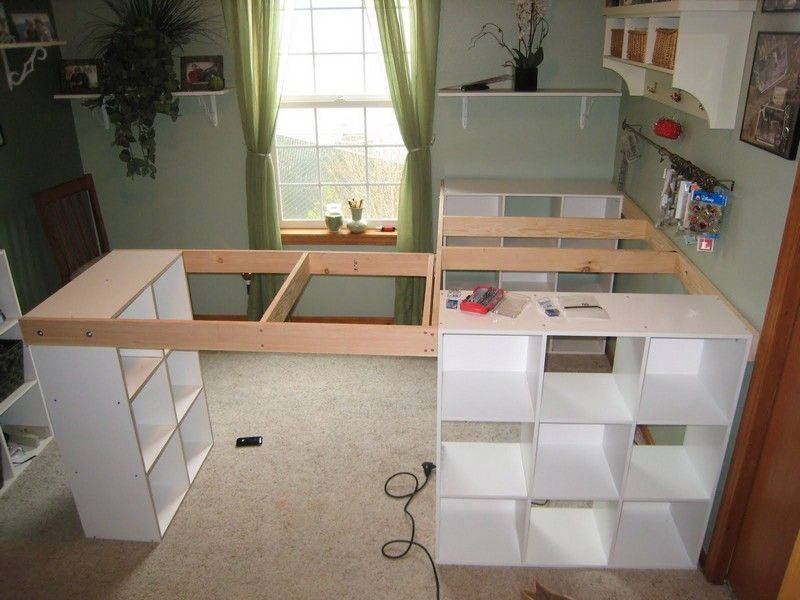 Image on the owner builder network httptheownerbuildernetwork do it yourself white craft desk how to build a custom craft desk solutioingenieria Images