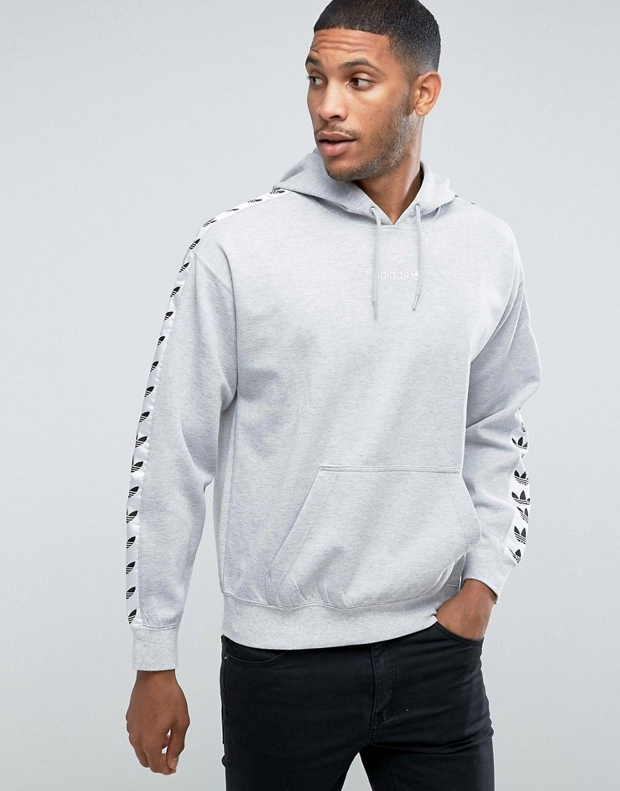 32ffd24b ADIDAS ORIGINALS ADICOLOR TNT TAPE HOODIE IN GRAY BS4683 - GRAY. # adidasoriginals #cloth #