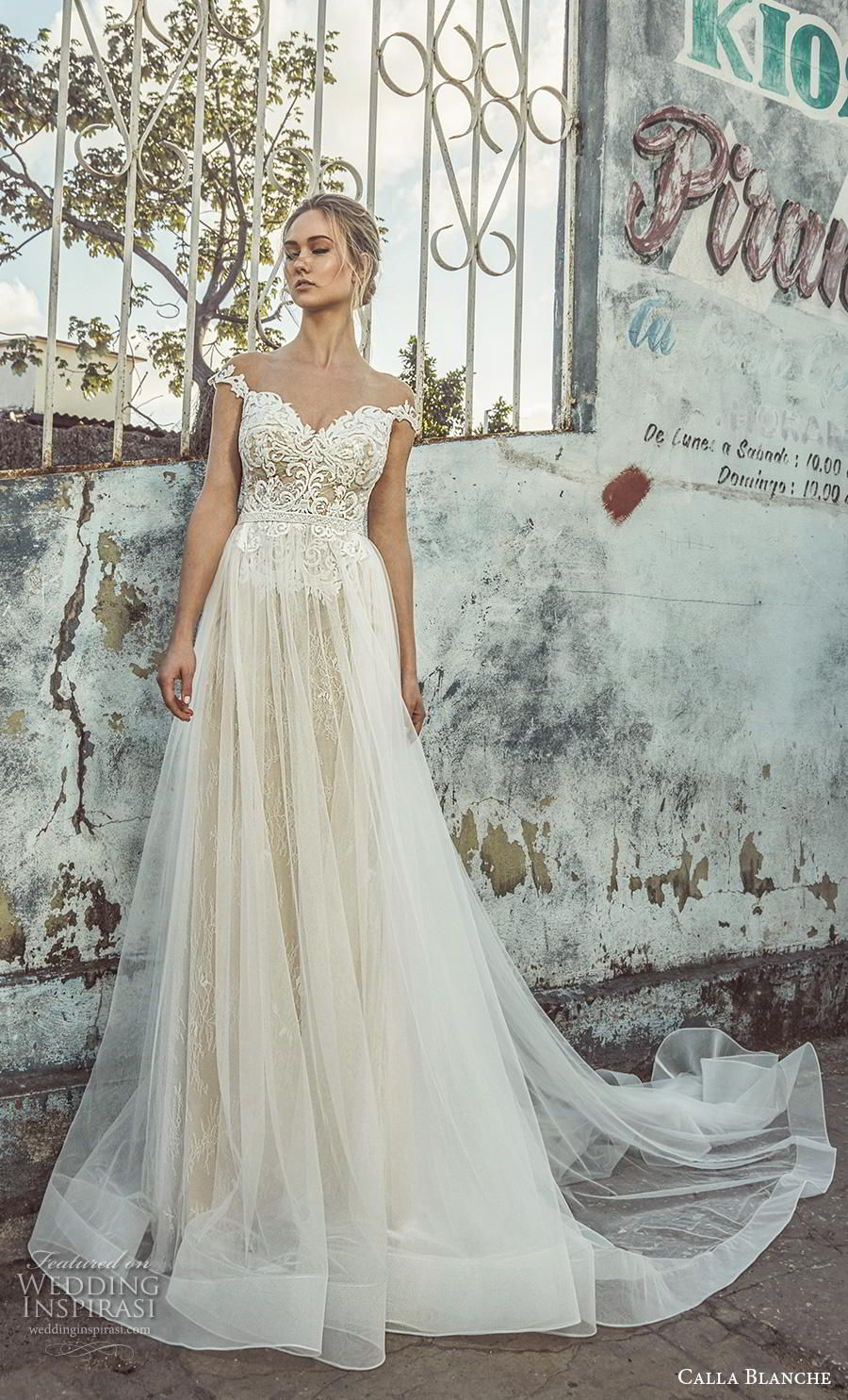 L Amour By Calla Blanche Fall 2018 Wedding Dresses Wedding Inspirasi A Line Wedding Dress Wedding Dresses Wedding Dress Accessories