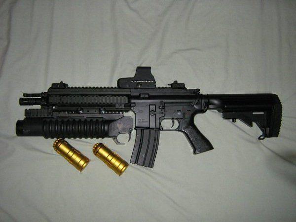 M416 Assault Rifle + Holo + Grenade Launcher | Assault rifles | Pinterest | Assault rifle, Guns ...