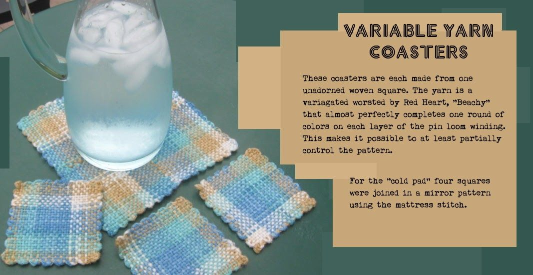 Pin Loom Weaving: Never underestimate the power of a mug rug ...