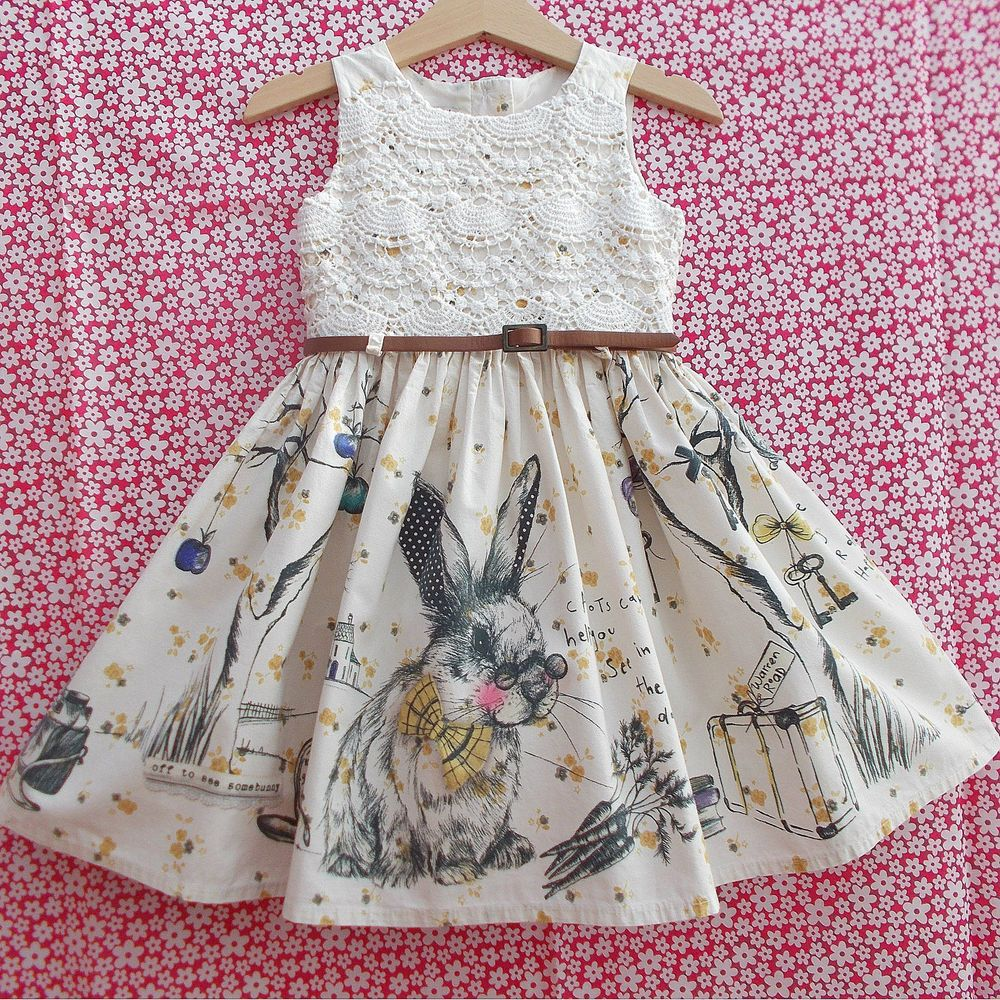 Girls NEXT Alice in Wonderland Rabbit Bunny Prom Party Dress 2-3 ...