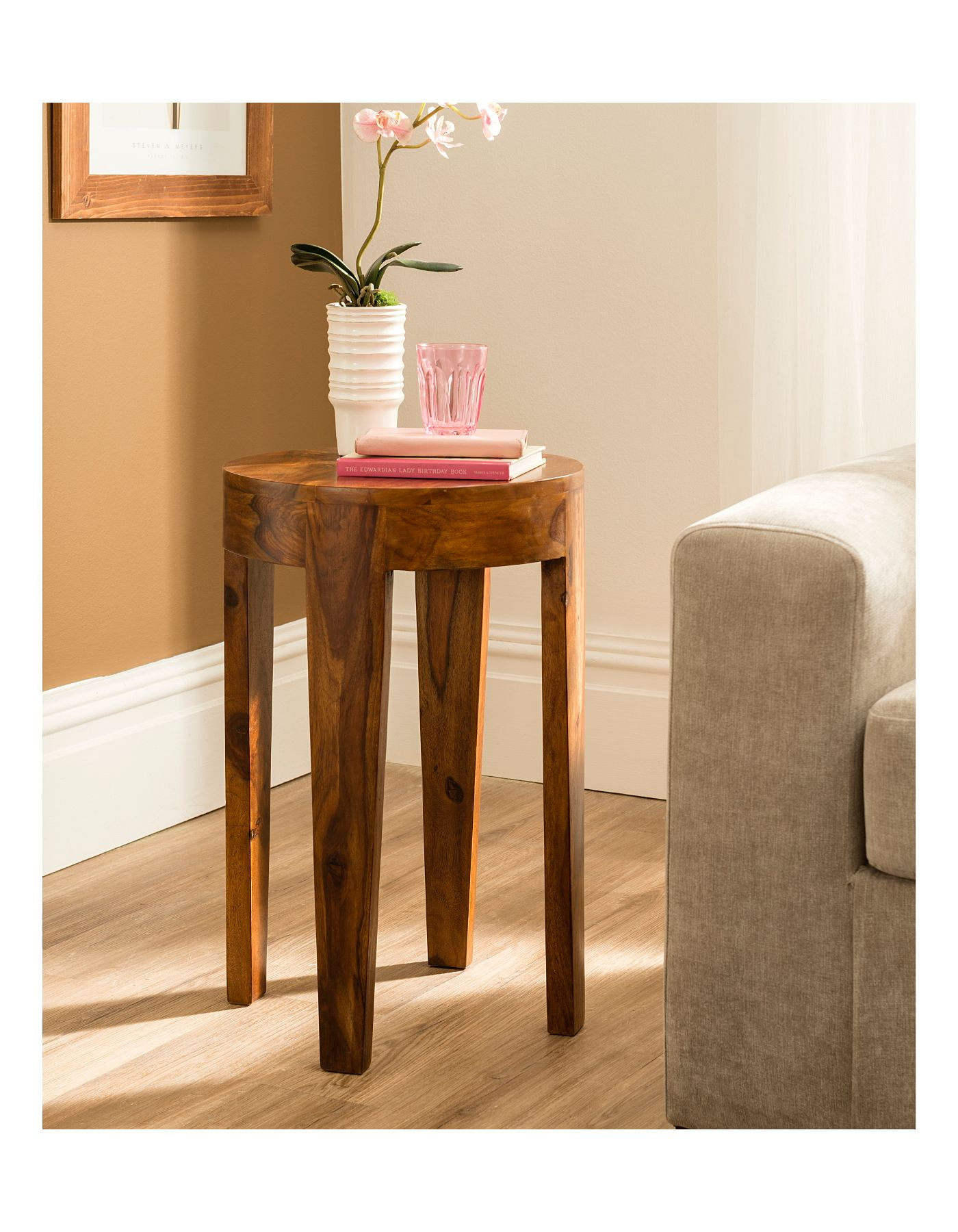 Gaya Round Side Table Medium Coffee Side Tables Asda