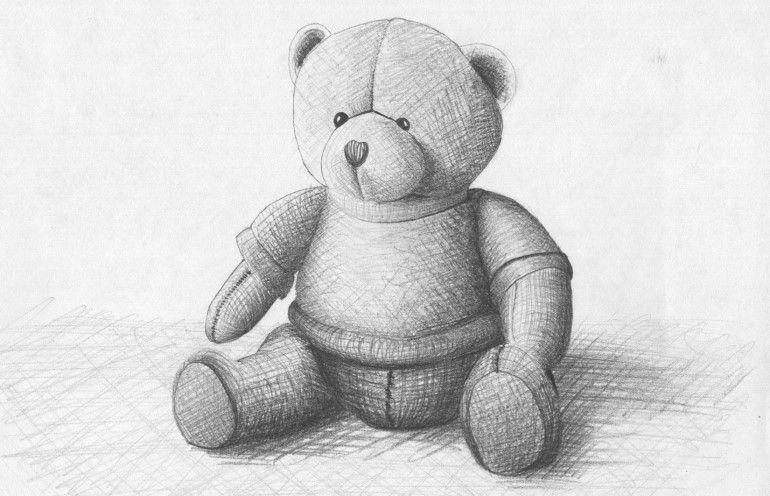Learn To Draw 13 Cross Hatching A Teddy Bear S K E T C H In 2019