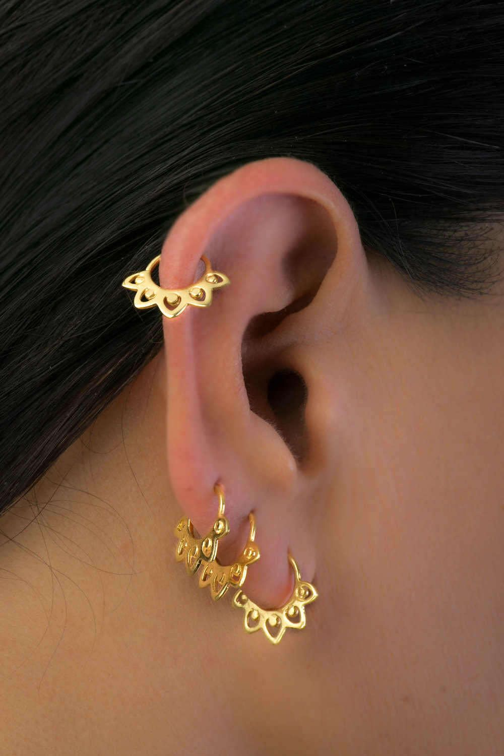 20G PLAIN BRASS NOSE RING SMALL 8MM RING NOSE STUD HELIX EAR HOOP TRAGUS