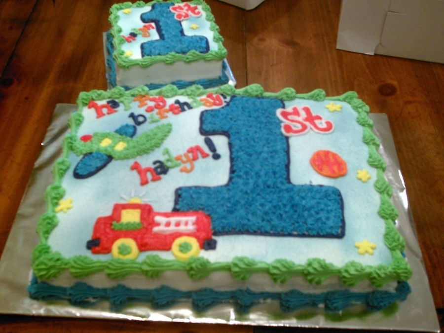 Wondrous Baby Boy First Birthday With Images Birthday Sheet Cakes Funny Birthday Cards Online Alyptdamsfinfo