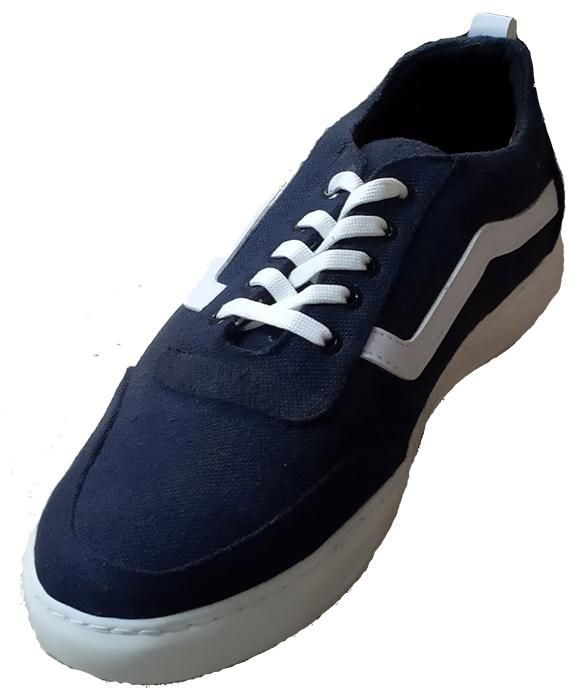Yaso Navy Blue Cloth Shoes Fashion Sneakers For Men Sneakers Fashion Fashion Shoes Casual Dress Shoes
