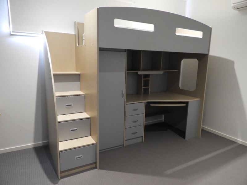 Loft Bed With Desk And Storage Beds Gumtree Australia Moonee Valley Essendon 1144783230 Loft Bed Bunk Beds Small Spaces Bunk Bed