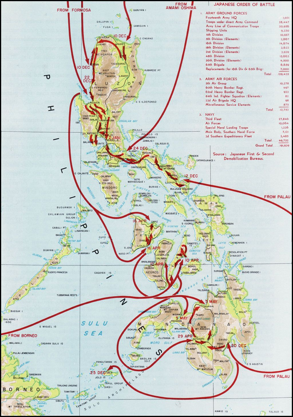 World war ii japanese invasion of the philippines maps world war ii japanese invasion of the philippines gumiabroncs Image collections