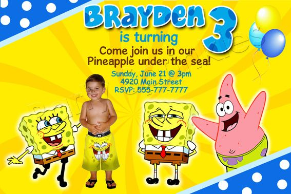 Nice Spongebob Birthday Invitations Ideas