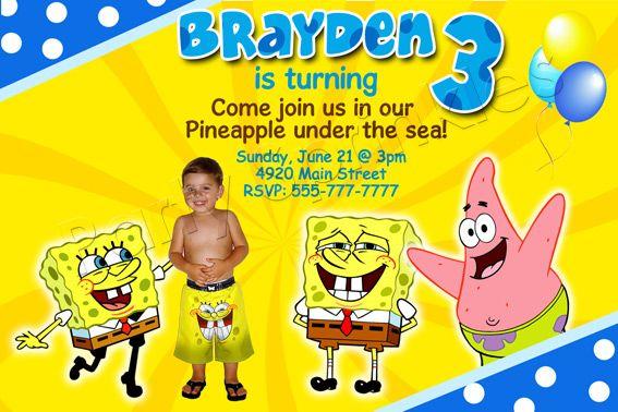 Spongebob Birthday Cards My Birthday Pinterest Birthdays