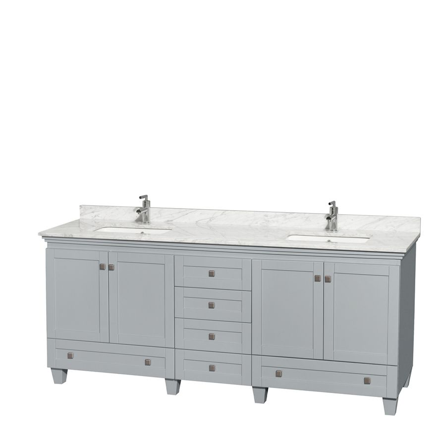 Wyndham Collection Acclaim 20 in Oyster Gray Undermount Double ...