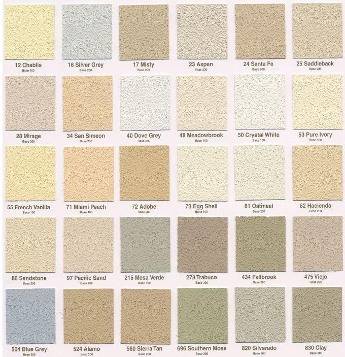 Lahabra Standard Color Chart Stucco