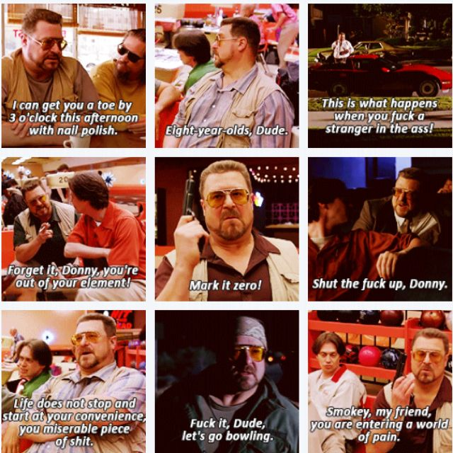 Big Lebowski Quotes Brilliant Some Of The Best Walter Quotes  The Big Lebowski John Goodman  My