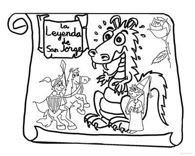 Dibujos para colorear de La leyenda de San Jorge | Jugar y colorear ...