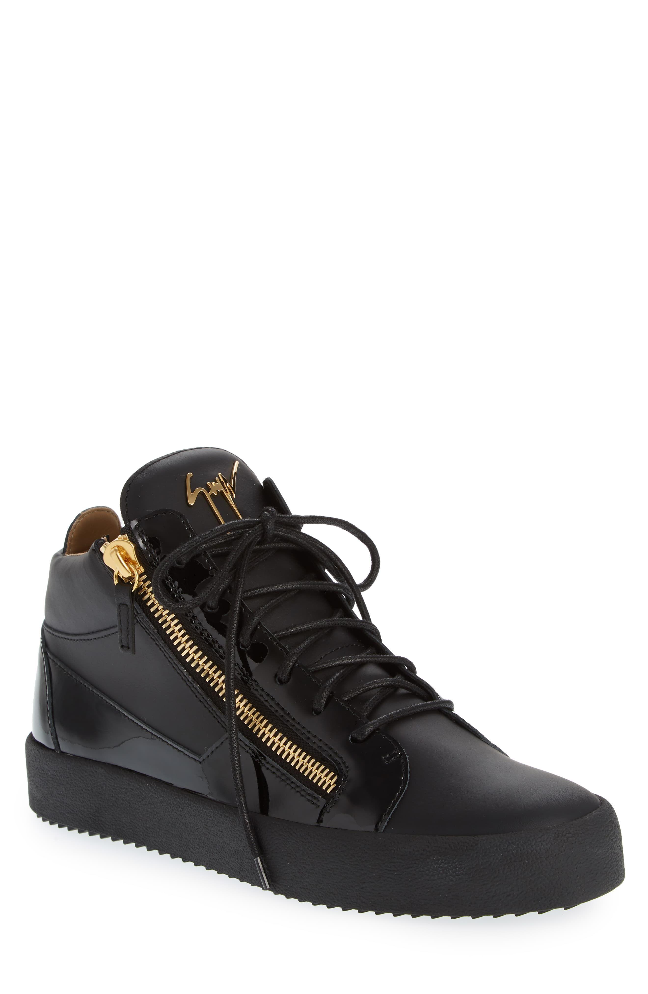 Men's Giuseppe Zanotti Mid Top Sneaker, Size 10US 43EU