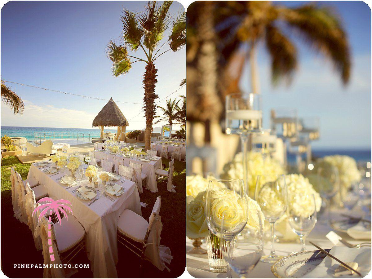 Wedding Reception Setup At Beachfront Villa Serena Cabo San Lucas Planner Leslie